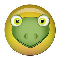 Chapa cabeza de rana
