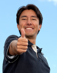 Man with thumbs-up