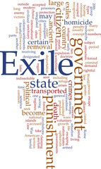 Exile word cloud