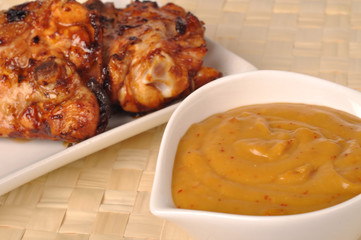 Grilled chicken with sauce