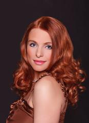 redhead glamorous
