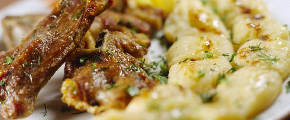 grill lamb edge