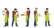 Homme faisant la cuisine - cocotte dans les mains
