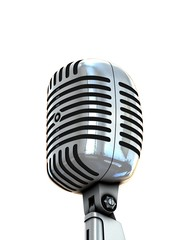 isolated retro microphone on white background
