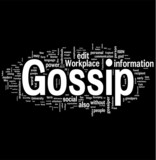 Gossip word cloud