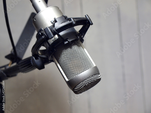 studio vocal microphone & grunge wall 6