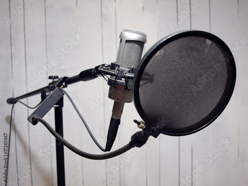 studio vocal microphone & grunge wall 2