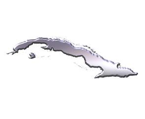 Cuba 3D Silver Map