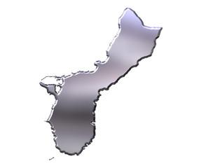 Guam 3D Silver Map