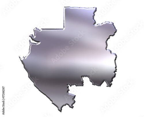 Gabon 3D Silver Map