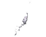 Palau 3D Silver Map poster