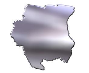 Suriname 3D Silver Map