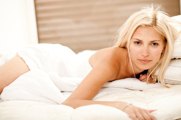 Gorgeous beauty in bed