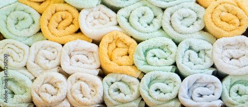 Leinwanddruck Bild Pile of towels