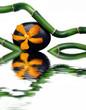 Leinwandbild Motiv Composition zen galet et bambou