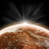 Red Planet Earth Halo - Univers Exploration poster