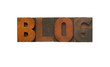 blog in wood type