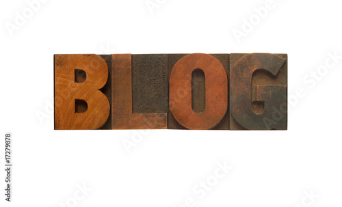 blog in wood type