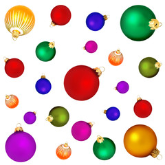 Background from christmas spheres