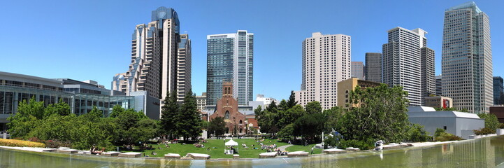 relaxing park in the center of San francisco
