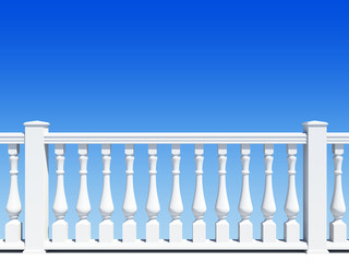 balustrade with pillar
