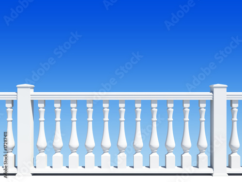 balustrade with pillar