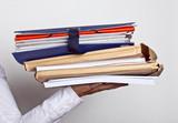 dossier administration bureau papier affaire contrat signature poster