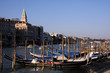 Moored Gondolas overlooking Venice