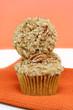 Stacked Pumpkin Nut Muffins