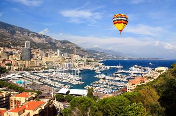 Aerial view of Monaco harbor