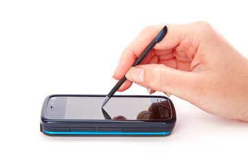 PDA phone with stylus