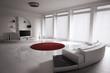 Modern Zimmer interior 3d