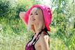 la bionda con cappello