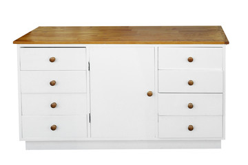 White Chest of Drawers with path