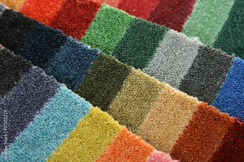 Samples of color of a carpet covering - 17303224