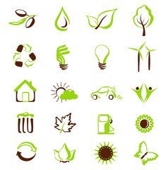 enviromental icons and symbols. vector set