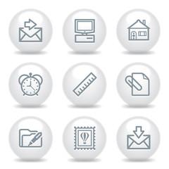 Gray icons set 27