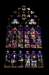 Stained glass in Votivkirche church, Vienna