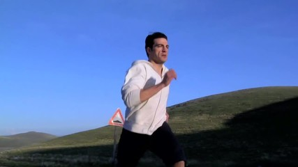 Uomo corre veloce