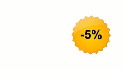 Sconto -5% -15% -25% -35% -45% -55% -65% -75%