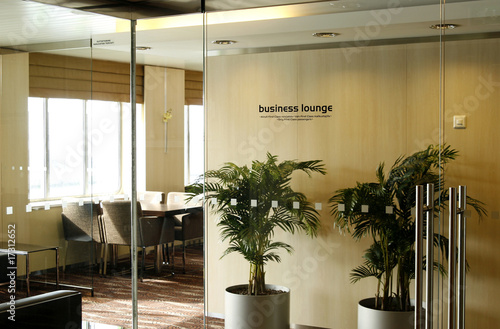 Foto op Canvas Luchthaven First Class Business Lounge area in the airport