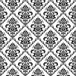 Seamless black & white floral wallpaper