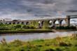 Viaduct crossing river