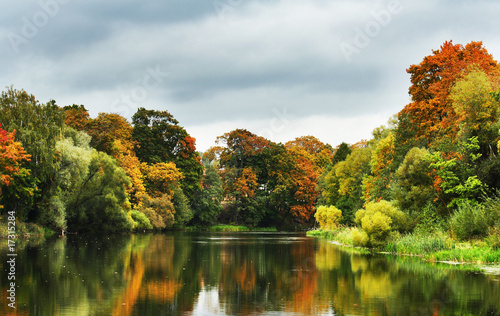 Nice picture of a cloudy day in autumn