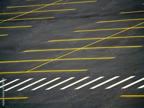 Grunge Empty Parking Lot - 17318495