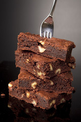 Fork On A Stack Of Brownies