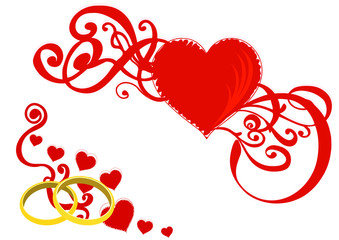 wedding background with hearts. vector