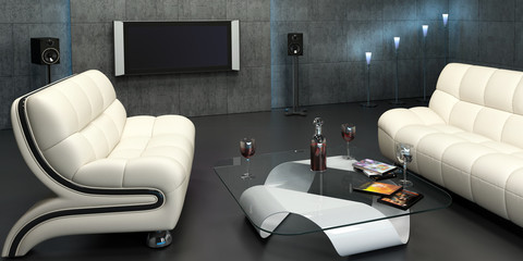 Interior design of home cinema III