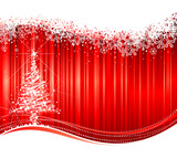 Christmas background with twinkle tree poster