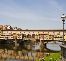 Ponte Vecchio and Streetlamp